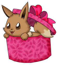 Eevee in box colored