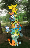 pokemon starter tower 2 by Kat-Skittychu