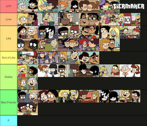 The Loud House/Casagrandes Ships - My Ranking