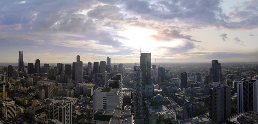 Melbourne CityScape by hopeforalice