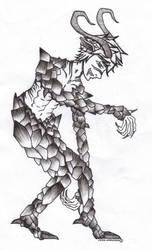 Demon Sketch : Azell son of Azoreth by VainnAnthonian