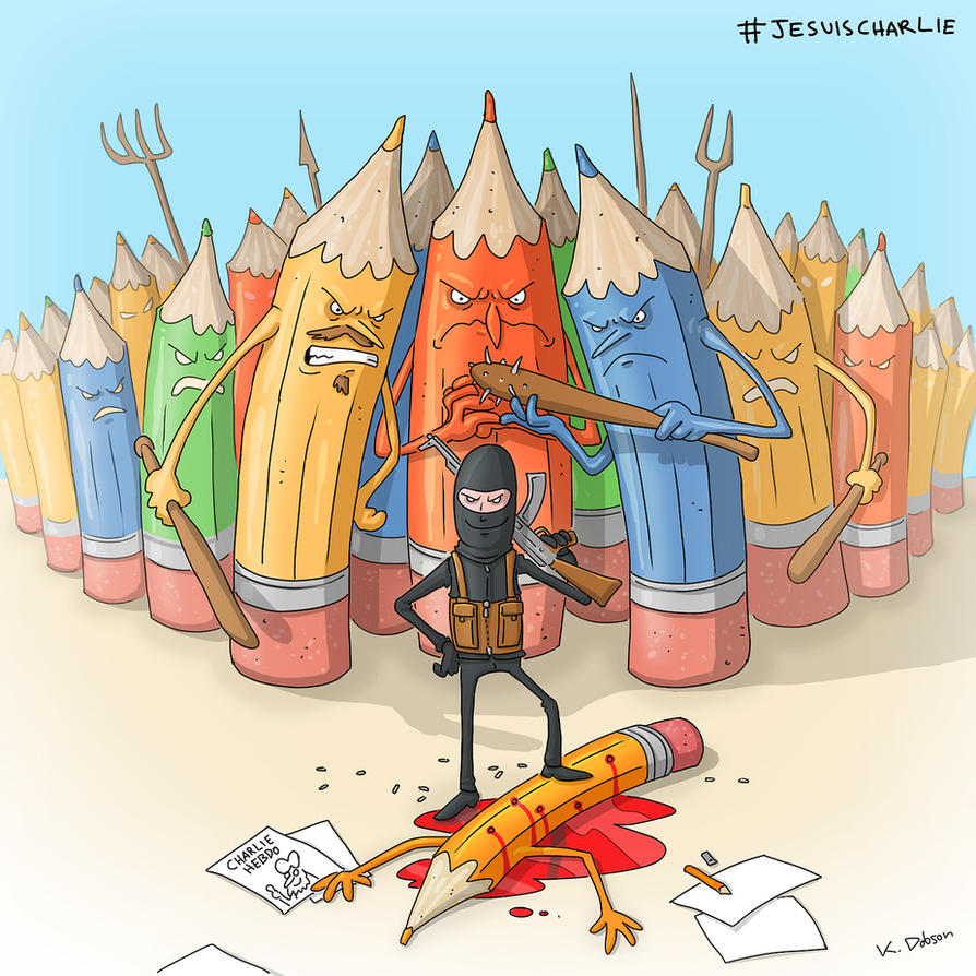Never give in to bullies. JeSuisCharlie by dem0n-be