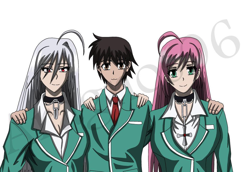 Anime Characters Vampire : Anime rosario vampire characters hot girls wallpaper