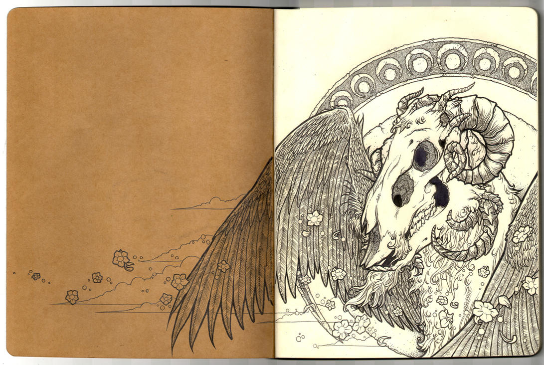 Angel of Death - Moleskine by scumbugg