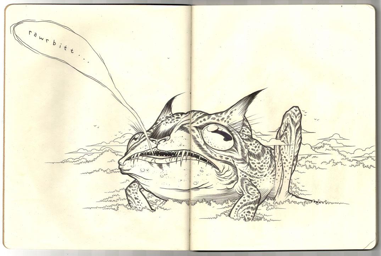 Jaguar Toad - Moleskine by scumbugg