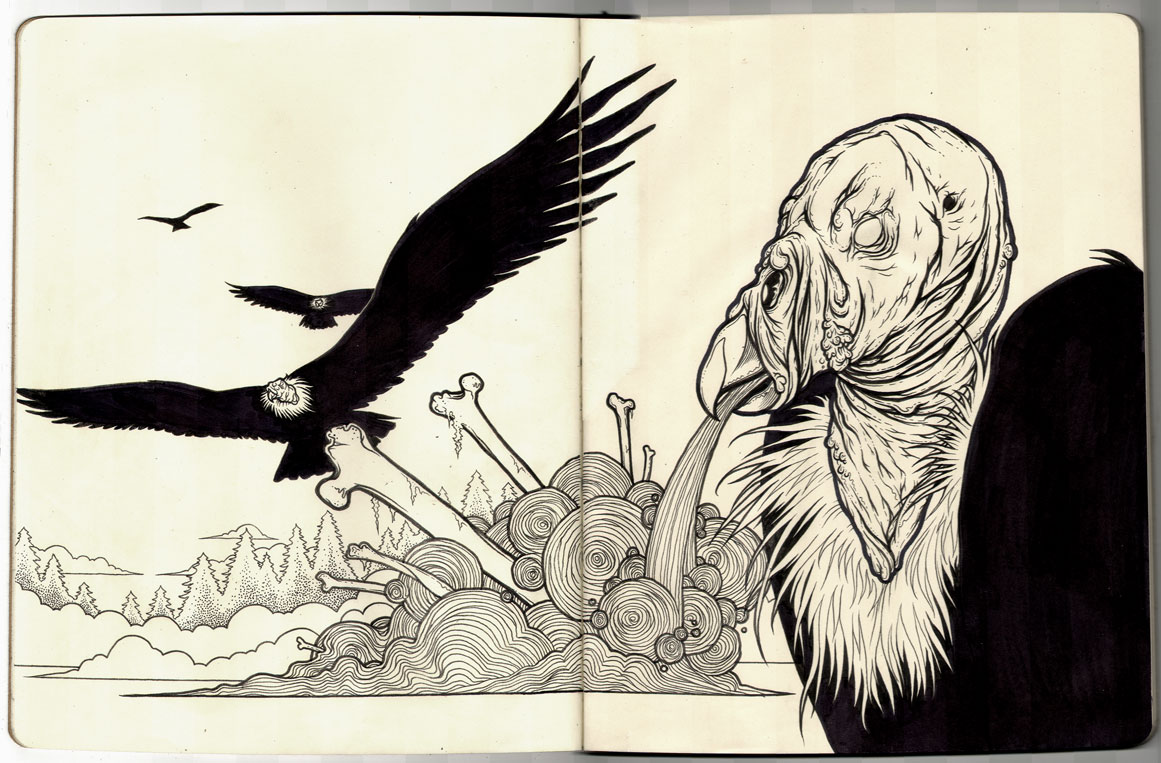 Plague of Buzzards - Moleskine by scumbugg