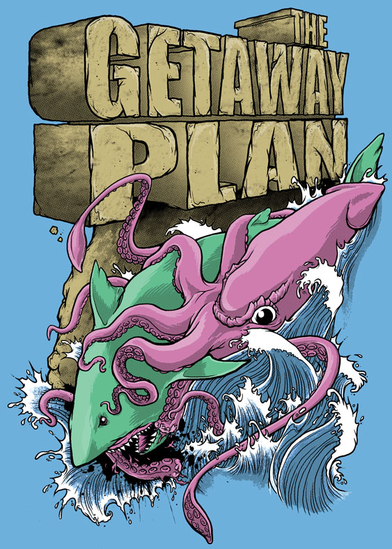 Getaway Plan - Shark vs. Squid by scumbugg