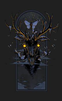 Moth Eaten Deer Head - Print