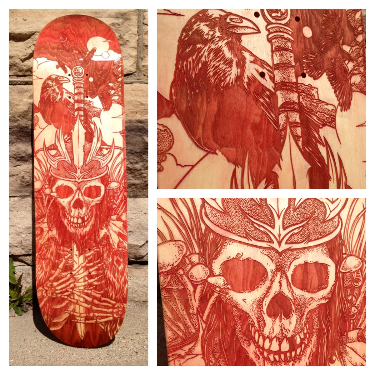 Heavy Lies the Crown - Laser Etched Skate Deck by scumbugg