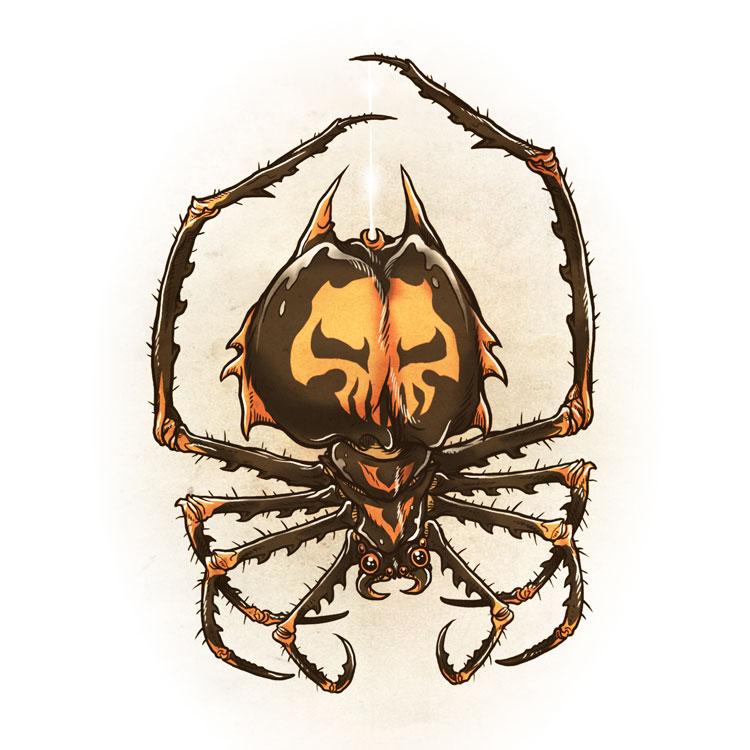 Drawlloween 2015 - Day 30 - Spider by scumbugg