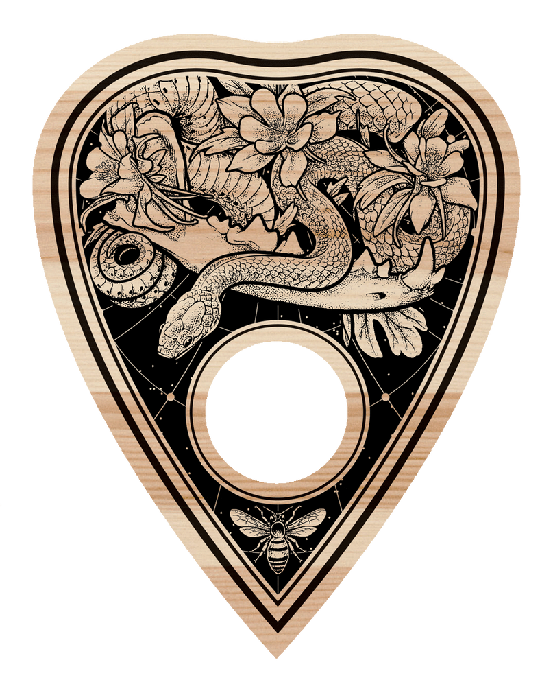 Planchette for ouija board : Gold hip hop jewelry
