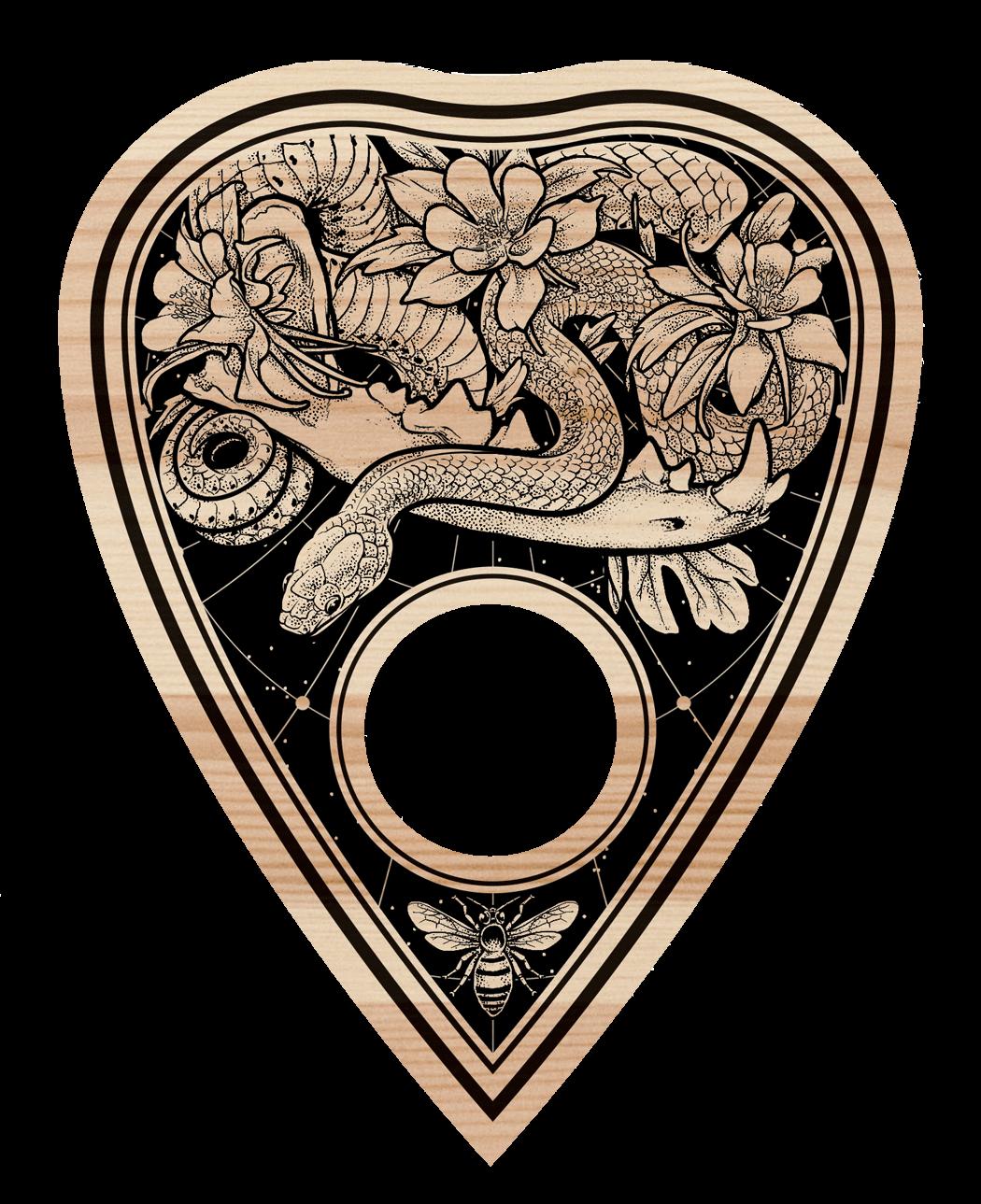 Ouija Board - Planchette Detail by scumbugg