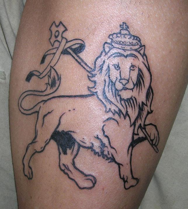 Sarah's Lion of Judah Tattoo