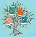 Tree and Poloroids Tattoo