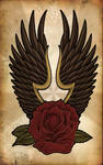 Rose and Raven Wings