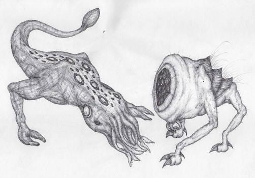 Bullsquid and Houndeye (Half-Life)