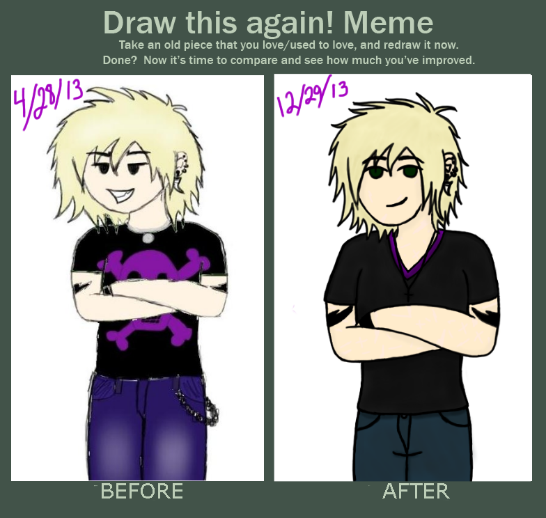 draw this again meme template - draw this again meme calvin lonefang by brokenangel363 on