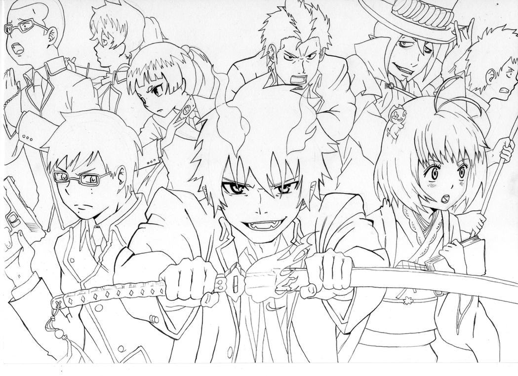 ao no exorcist by manuel sama on deviantart Yukio Blue Exorcist Coloring Pages Black Butler Coloring Pages