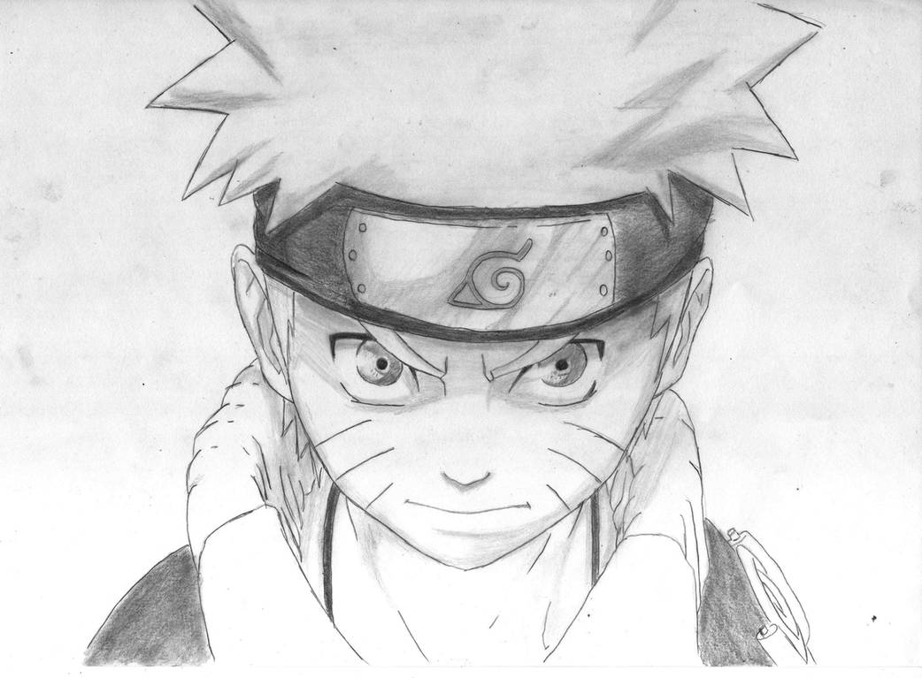 Naruto pencil drawing by manuel sama