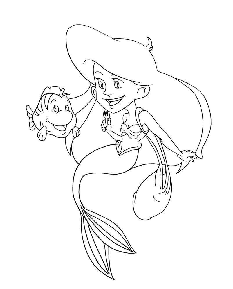 Coloring Pages Of Ariel And Her Sisters : How to draw ariel sisters