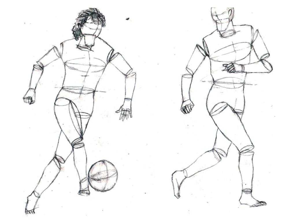 Football Dribble Sketch By SATOart On DeviantArt