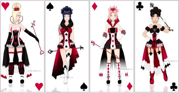 Naruto girls playing cards project by Kators on DeviantArt: kators.deviantart.com/art/Naruto-girls-playing-cards-project-323489140