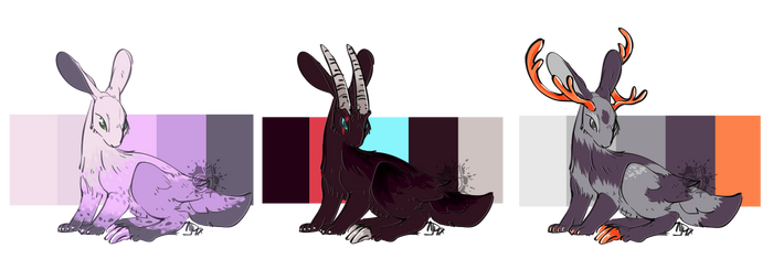 Clawed Jackalope Adopts #1 [Closed]