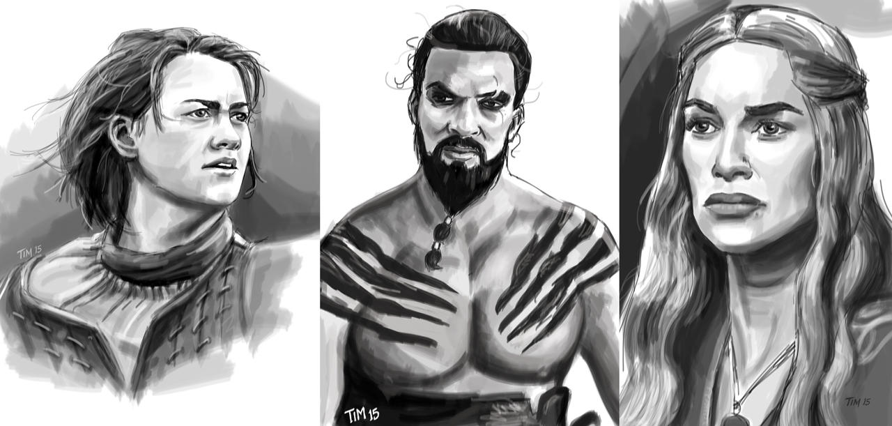 Game of Thrones Sketches by huskertim27