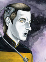 Lieutenant Commander Data by JammerLammy