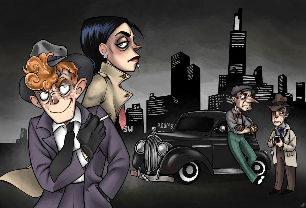 noir city by JammerLammy