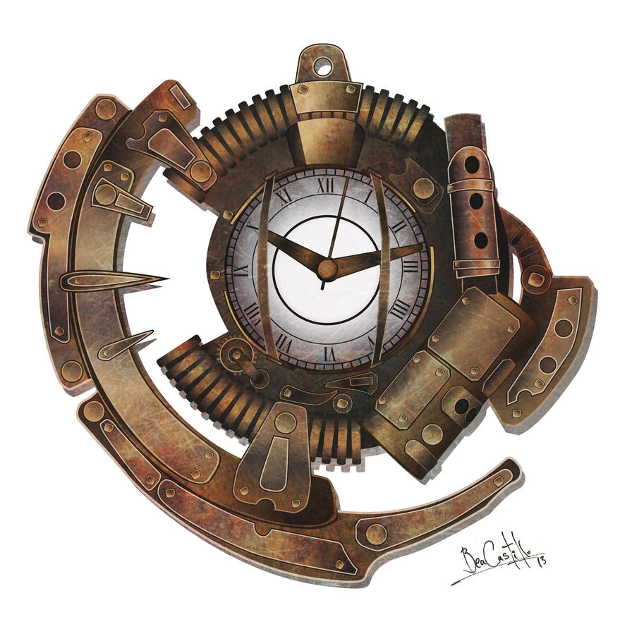 Steampunk clock by beacascabel on DeviantArt