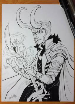 Inktober day 9 - Loki
