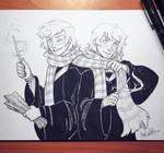 Inktober day 27 - Weasley Twins