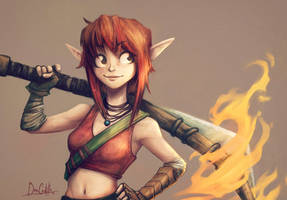 Ilse and fire by beacascabel