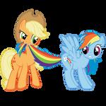 AppleJack and Rainbow Dash