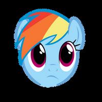 Rainbow Dash  face by lolke12