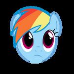Rainbow Dash  face