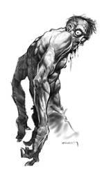 Zombie Sketch by PReilly