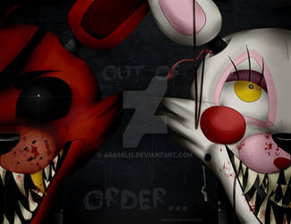 FNAF- Foxy and Mangle by Araselis