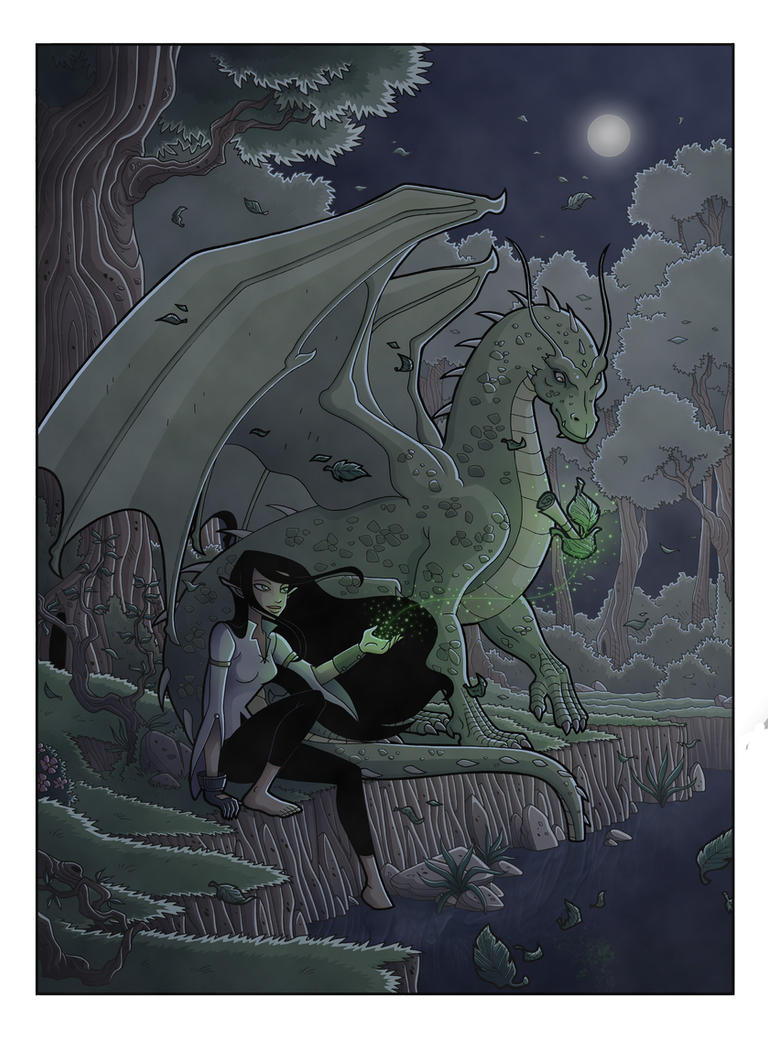 Arya and Firnen by Eumenidi on DeviantArt