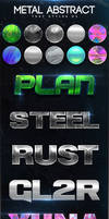 Metal Abstract Text Styles V3