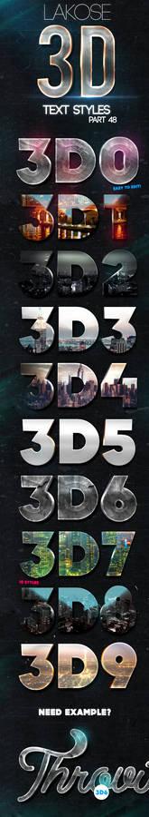 Lakose 3D Text Styles Part 48