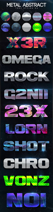 Metal Abstract Text Styles V4