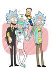 Trio of Help- Pocket Morty's COLOURED