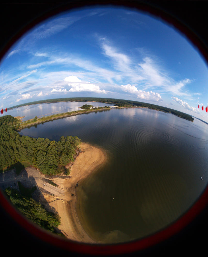 The flying fisheye by Azgard2274