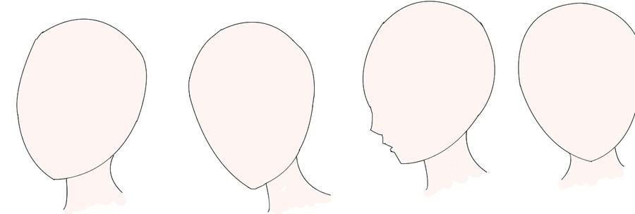 how to draw anime head