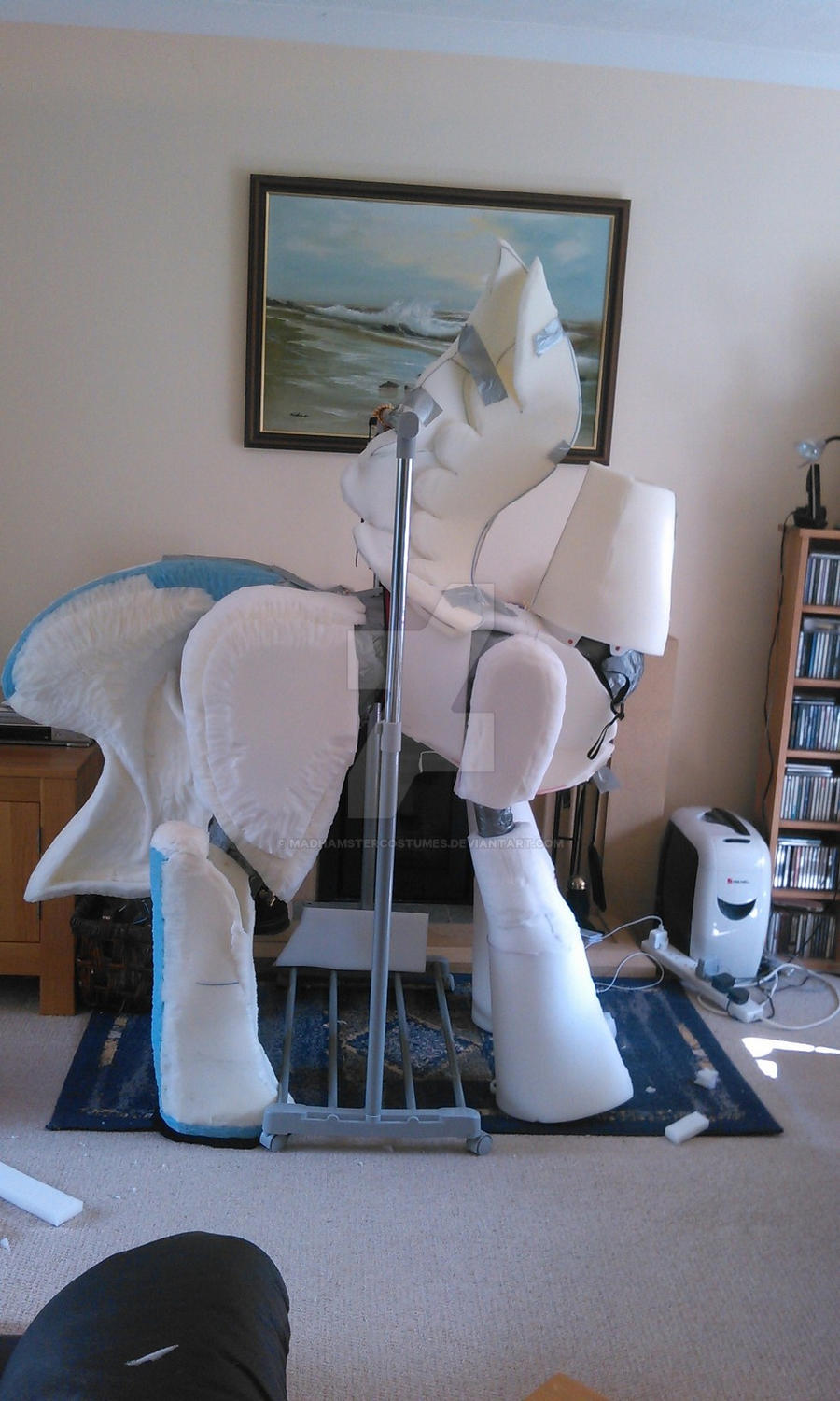 Nightmare Moon pieces part 3 WIP by MadHamsterCostumes