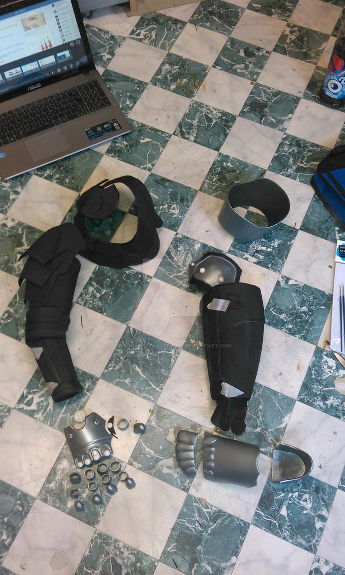 Edward Elric cosplay automail WIP by MadHamsterCostumes