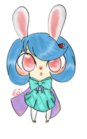 Cotton tail rabbit by Cutie-Puff