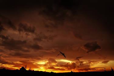 sunset halic by Cafernon